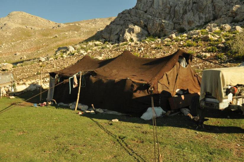 Anatolian Turkmen Tent in the pasture of Akdağ, South West  Turkey, 2016