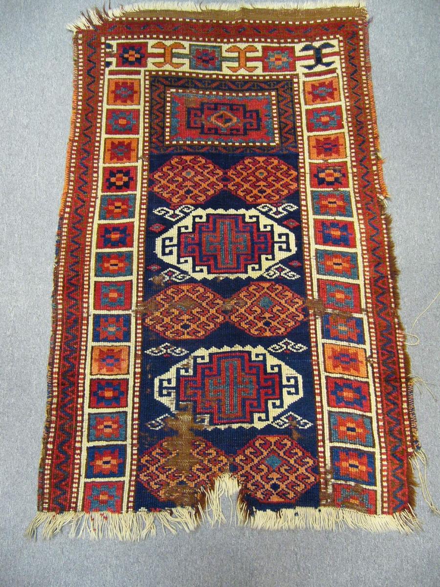 Antique East Anatolian carpet, nomadc Shavak Tribe, Bingöl-Tunceli-Elazıg tirangle mid-19th century