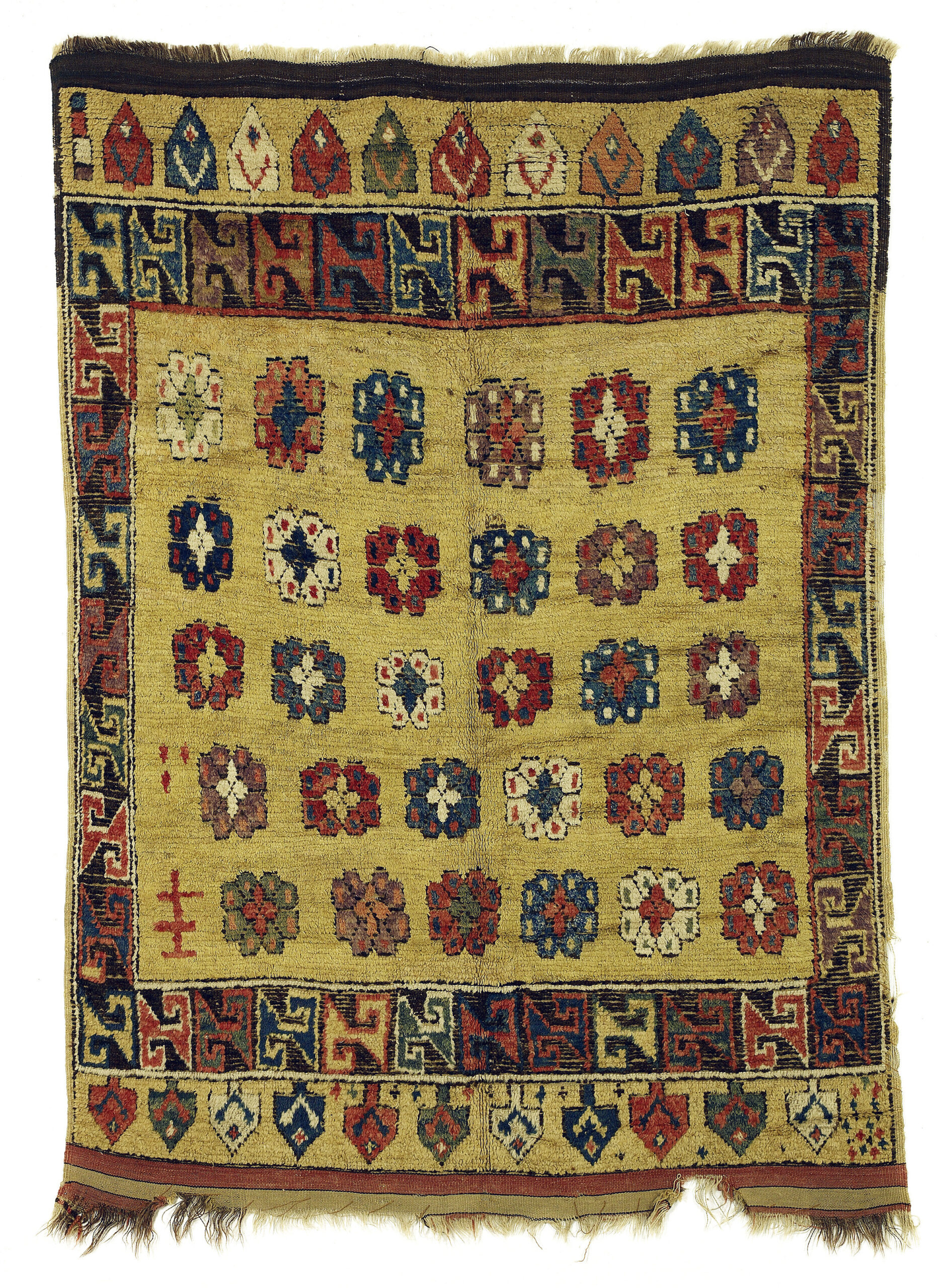 18th century yellow ground rug from Cappadocia, Central Turkey