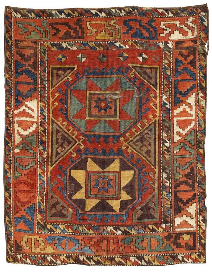 Antique Karacadağ carpet, Konya area, Central Anatolia, 19th century