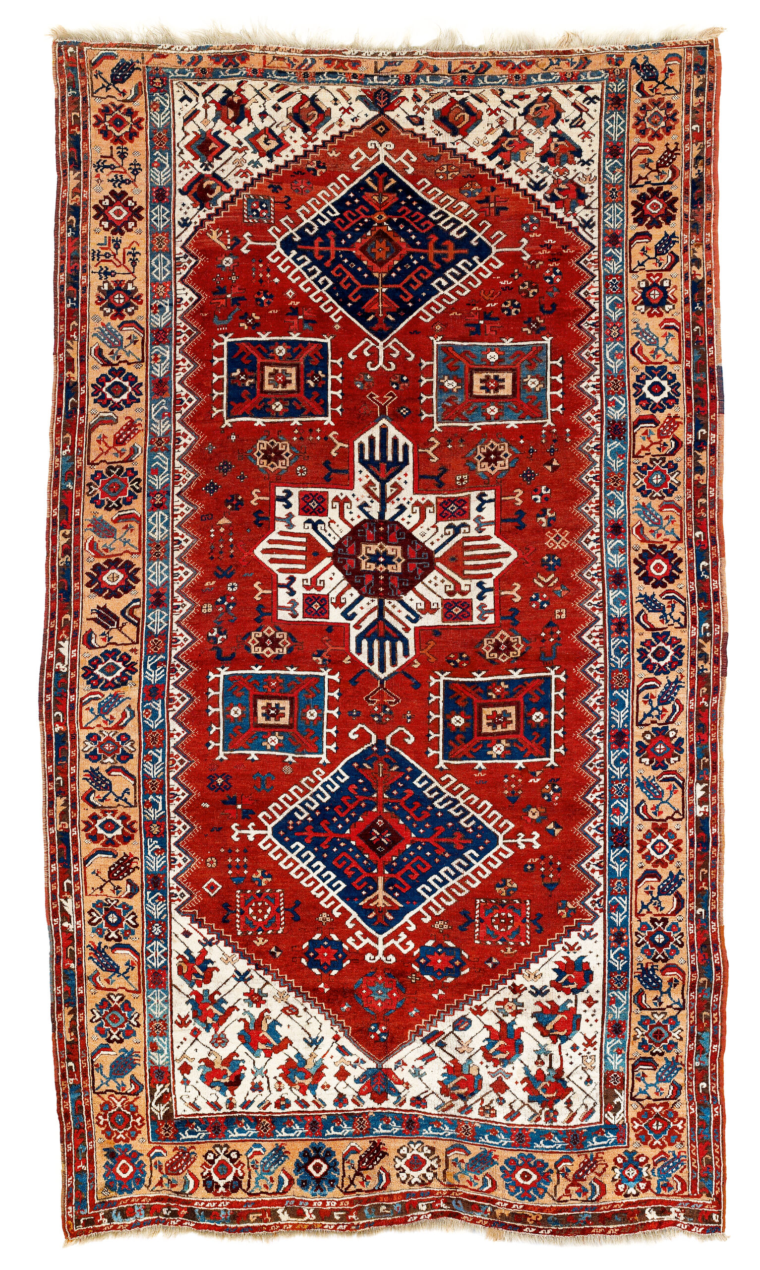 Antique 18th Century Karaman workshop carpet, Central Anatolia
