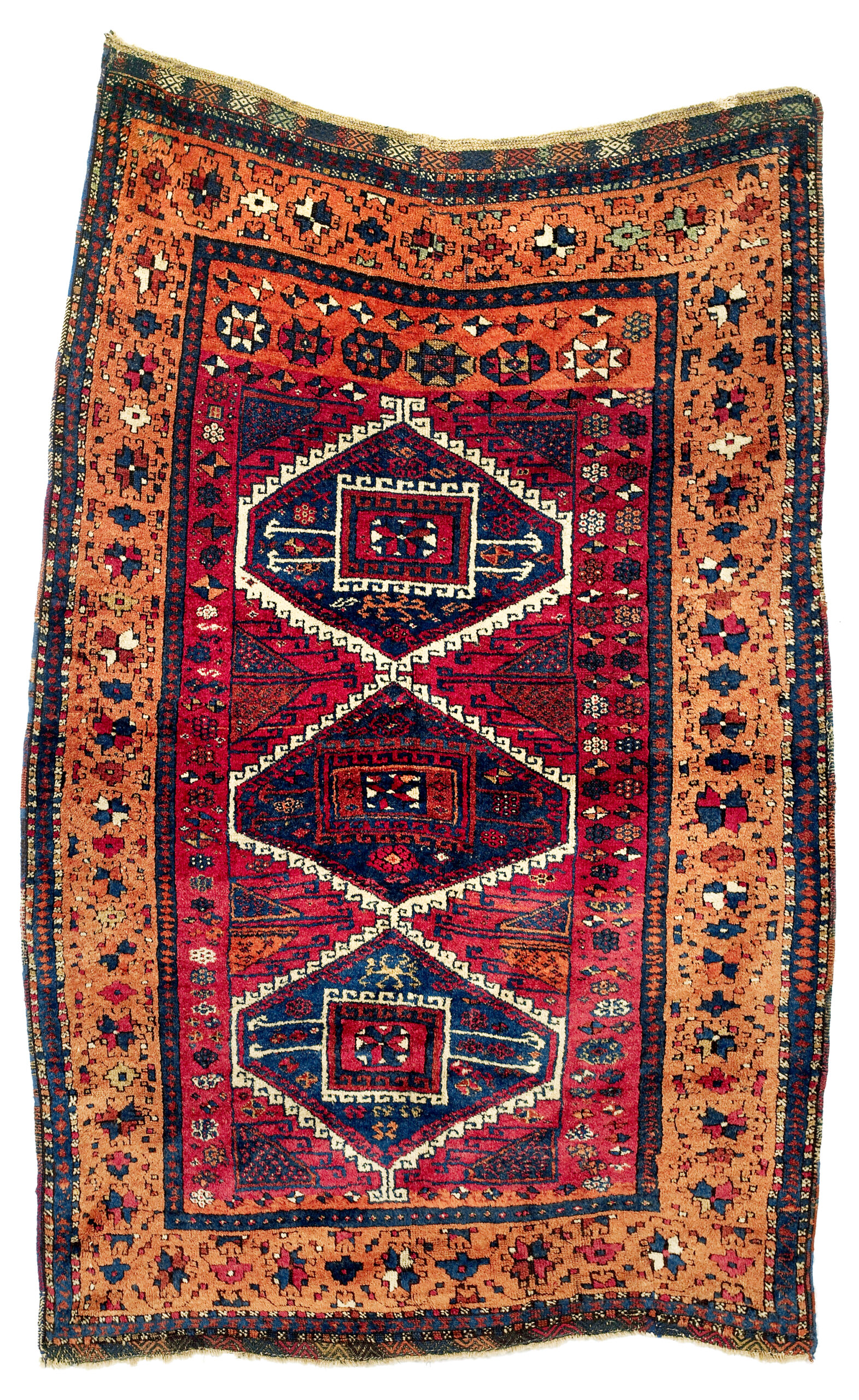 Antique Eastern Anatolian carpet, 19th century, with saturated colors