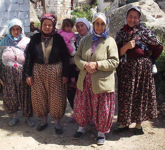 Village women posing for a photo shot