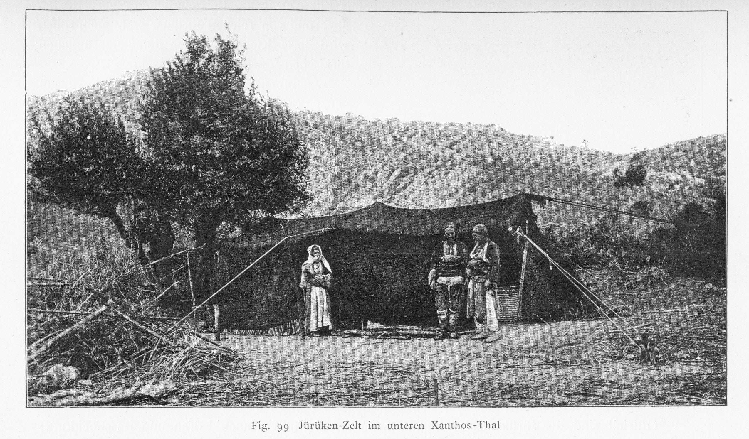 Anatolian Turkmen Black Tent, Xanthos, Sout-Western Turkey, Thal Von Luschan 1889