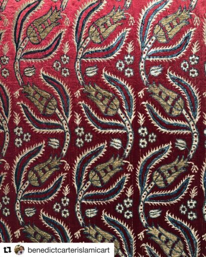 Ottoman period Kamha fabric from Bursa City