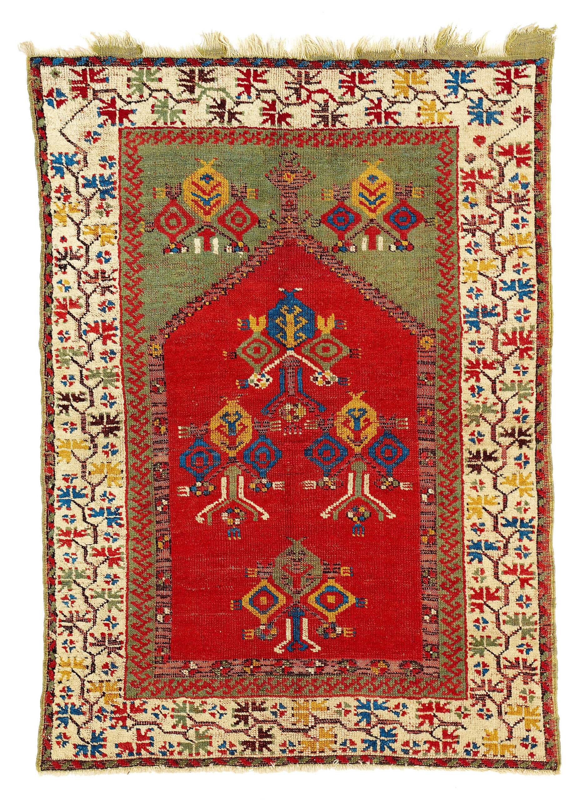 17th-18th century Cenrtal Anatolian carpet most probably from Aksaray