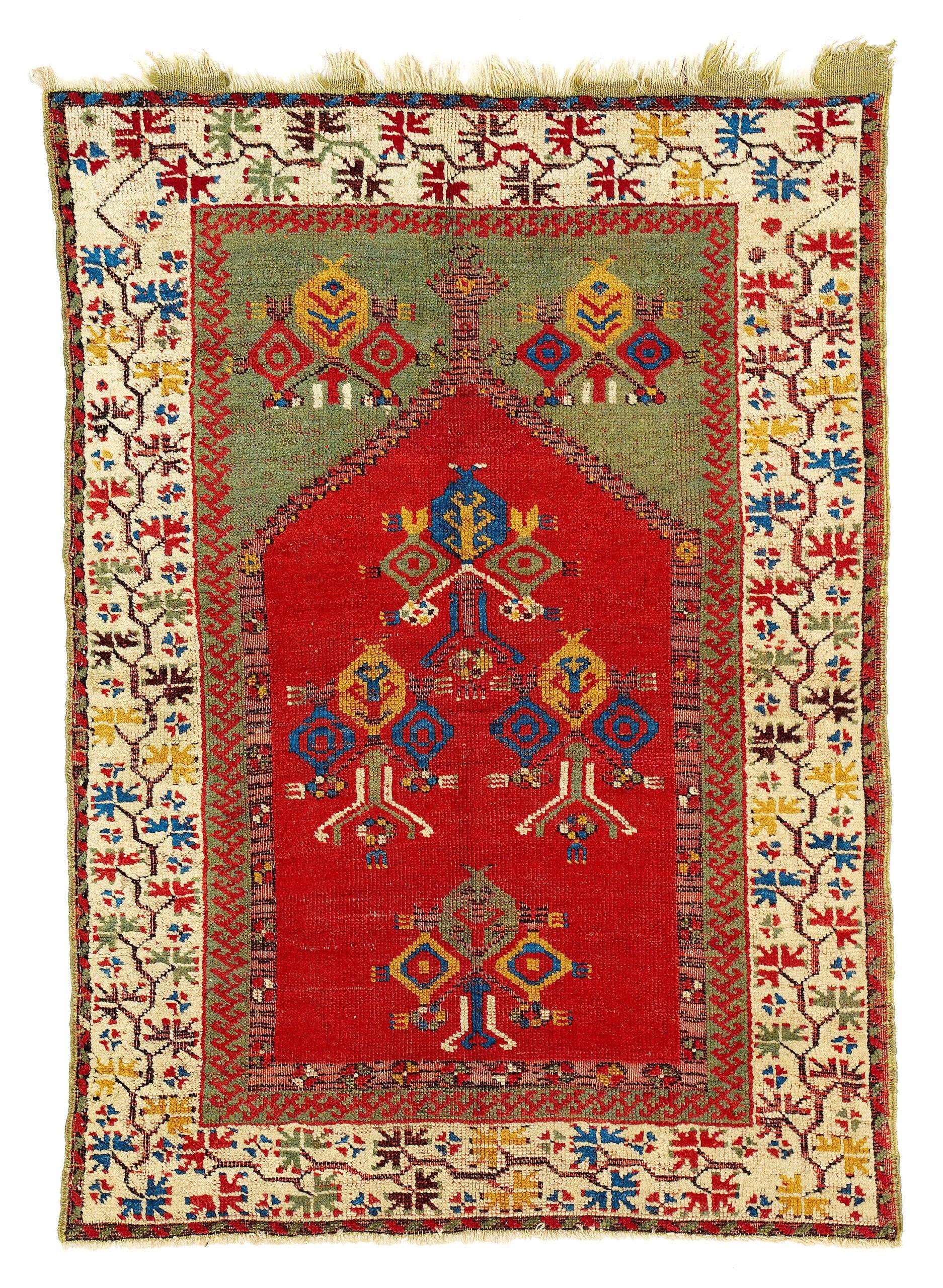 17th-18th century Cenrtal Anatolian carpet most probably from Aksaray