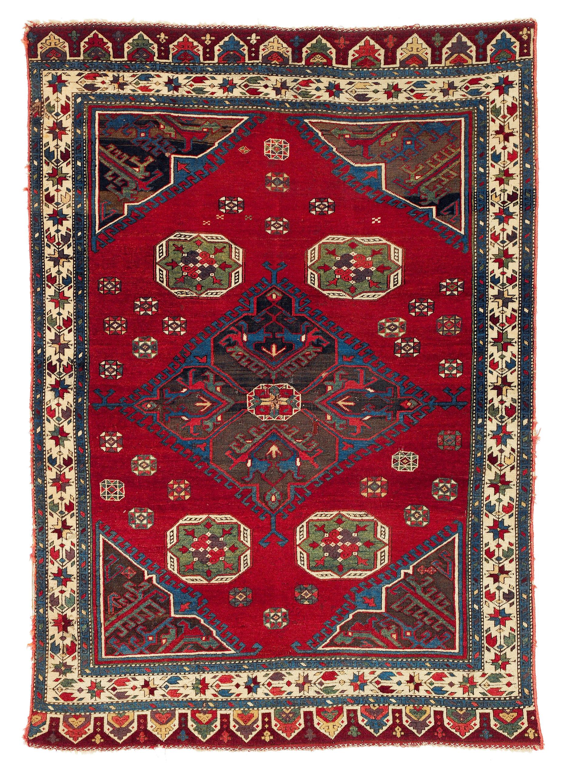 17-18th Century Konya workshop carpet, Central Anatolia