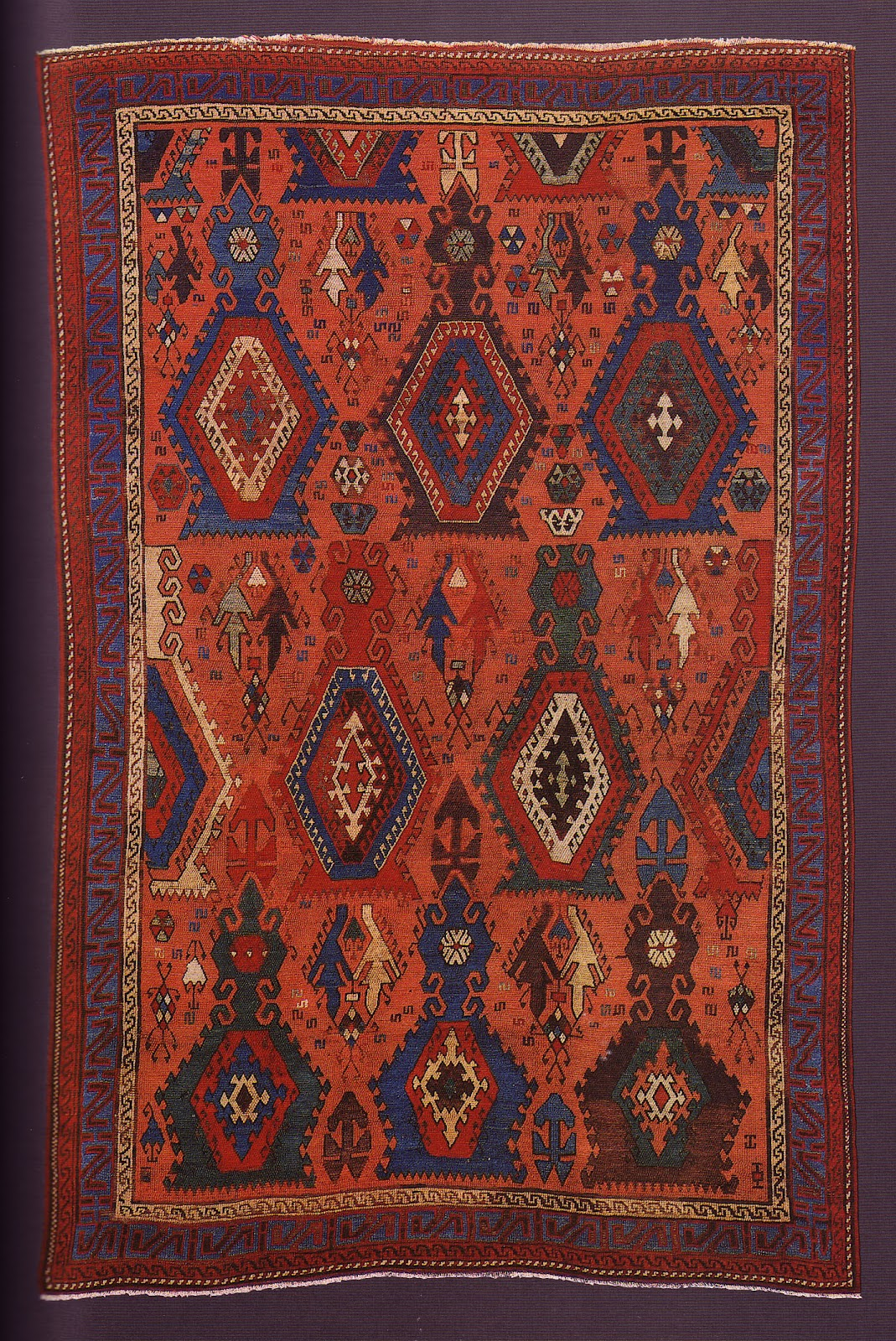 A special carpet of early 17th century, with saturated workshop dyes from Sarkisla, Eastern Turkey