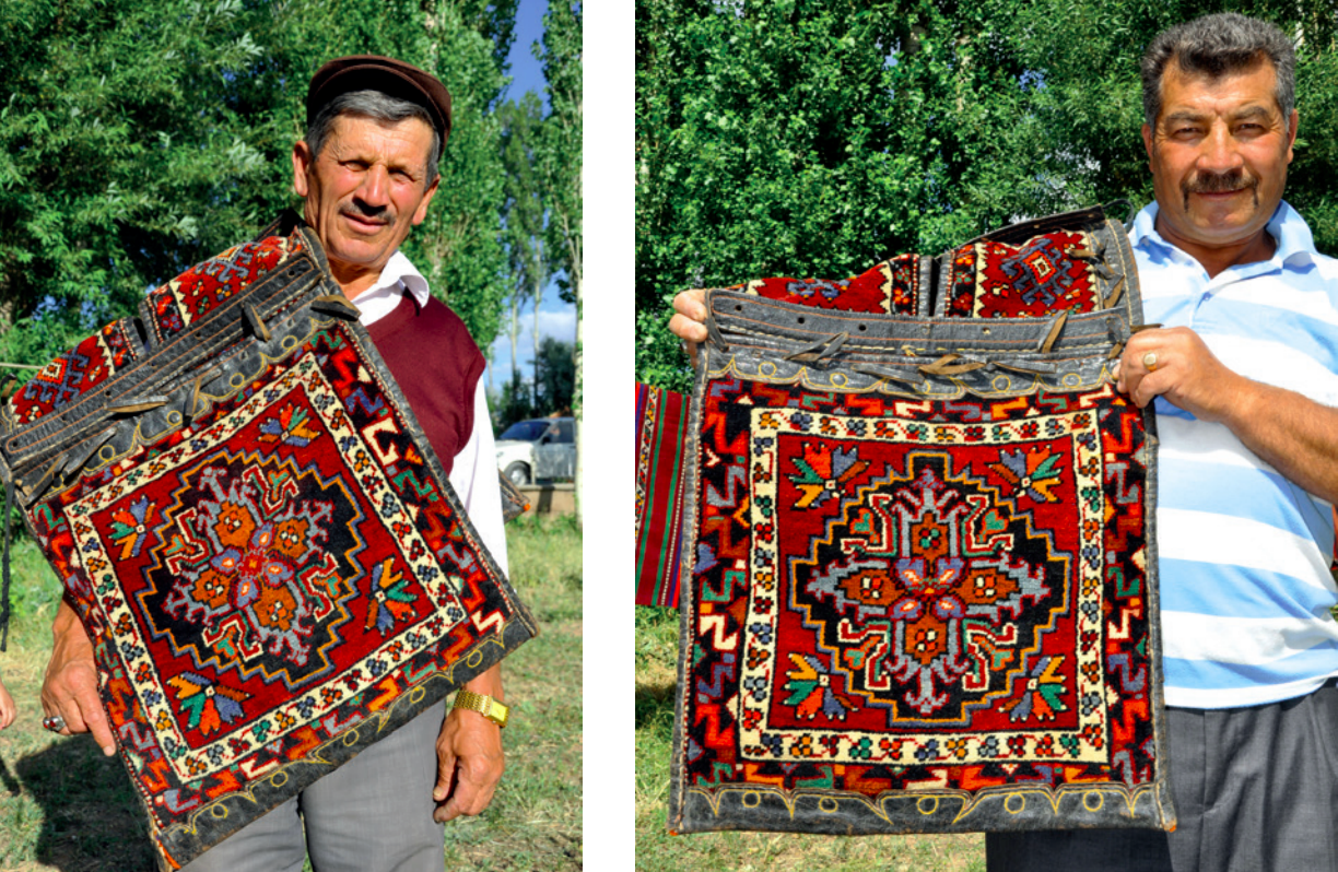 The usage of heybe on the shoulder as a carrying bag, Sivas, East-Central Turkey, 2010s