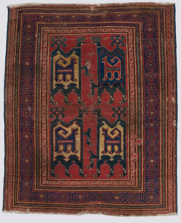 Turkish animal carpet, 14th century, Metropolitan Museum