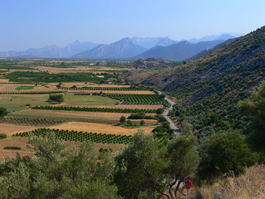 Vast plains between the first and second elevation levels of Taurus Mountains