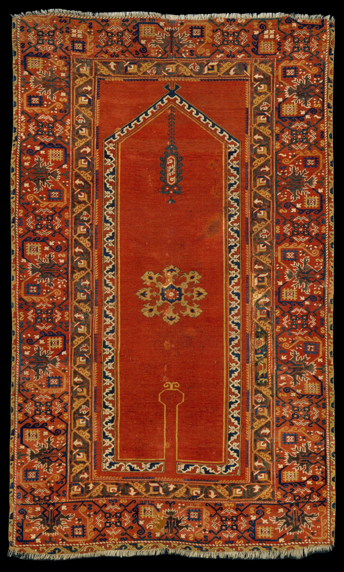 Bellni patterned workshop carpet 16th century Western Anatolia