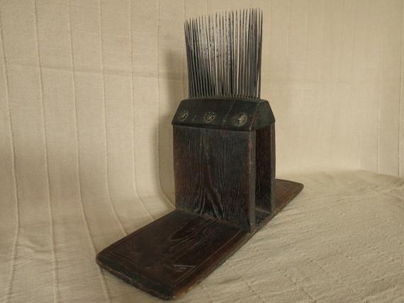 Antique Anatolian Turkmen wool comb. end of 19th century