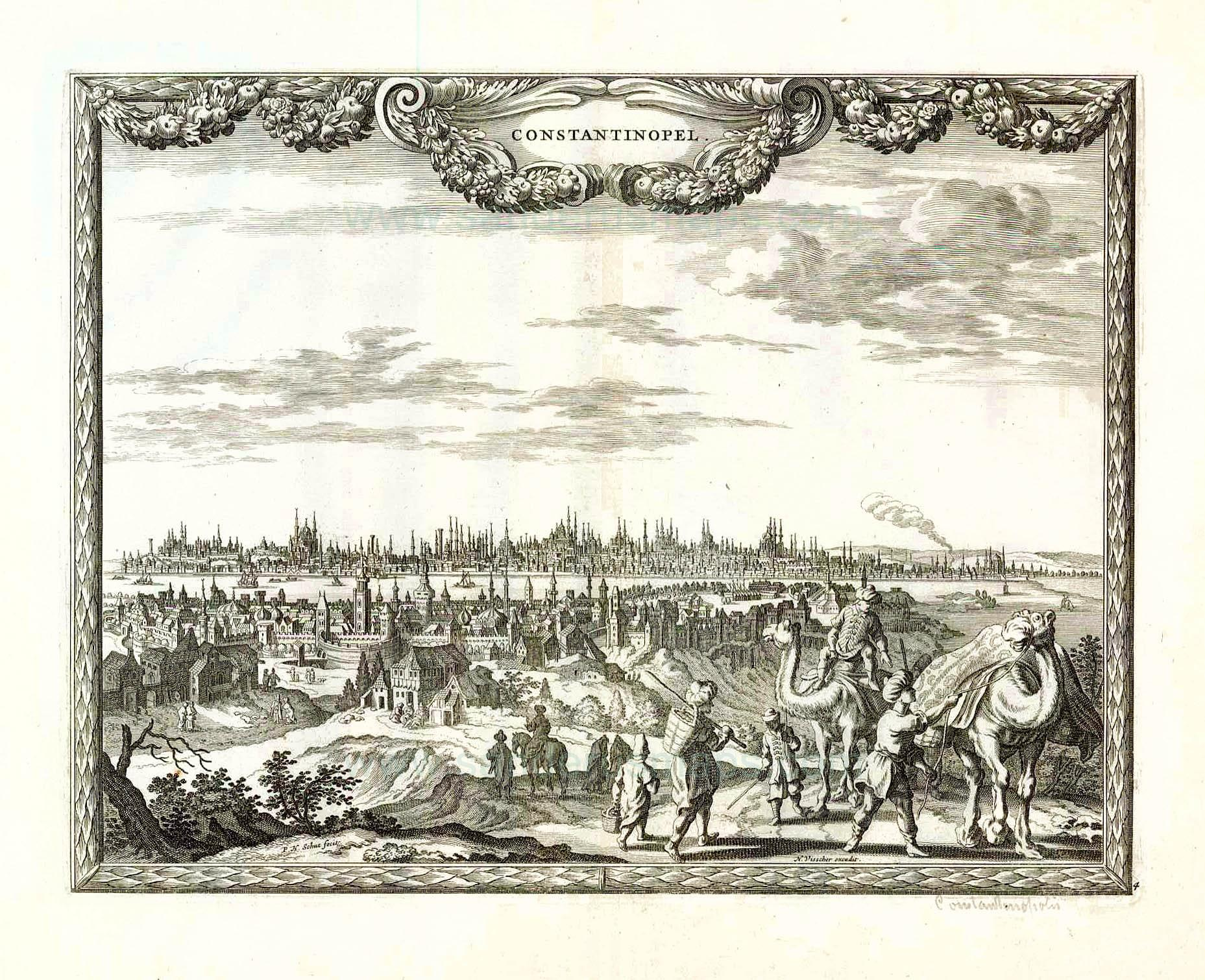 A European Gravure of 17th Century depicting Istanbul