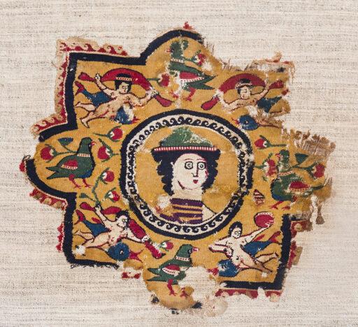 Coptic rug dating mid 7th century, Egypt