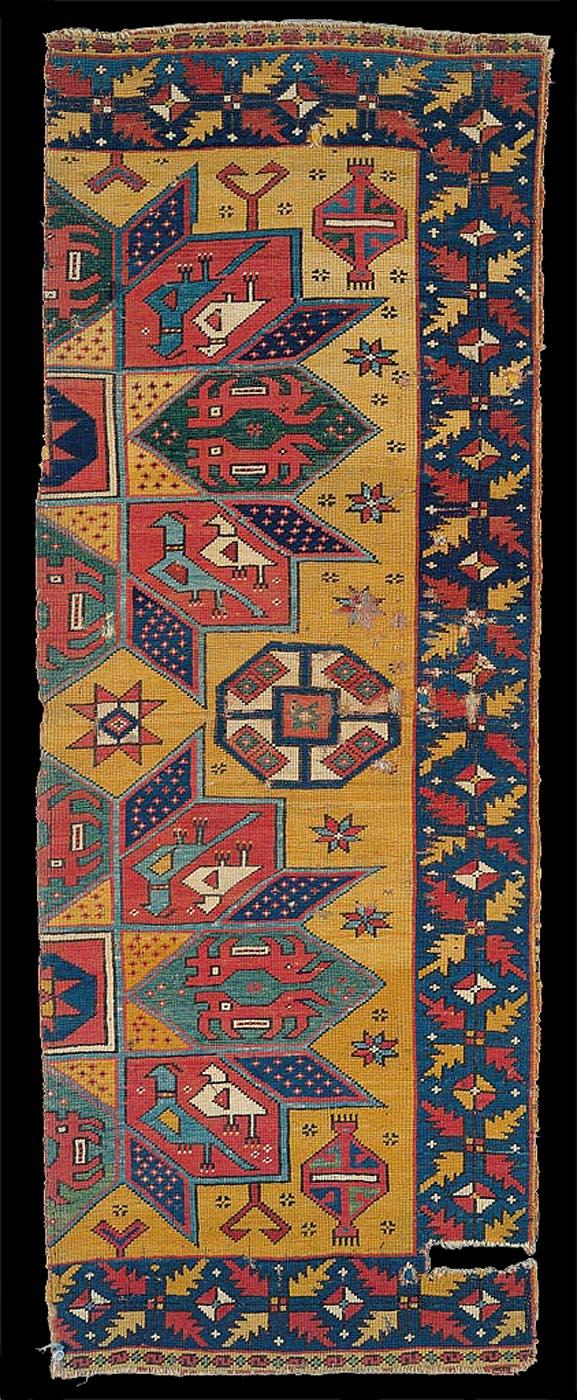 14th-15th centuries, Crivelli model carpet, Western Anatolia