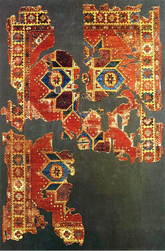 "16th-17th century Central Anatolian carpet with ""Crivelli type of pattern"" and having a turkmen effect"