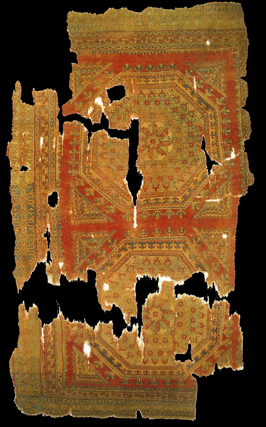 14th-15th centuries, Crivelli patterned carpet, Western Anatolia