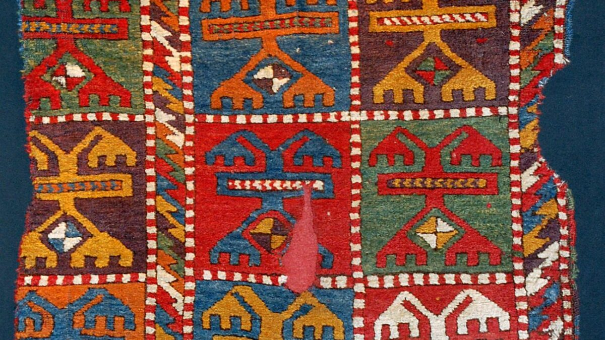 Antique Konya Karacadağ-Işıklar carpet, Early 19th century, Central Anatolia