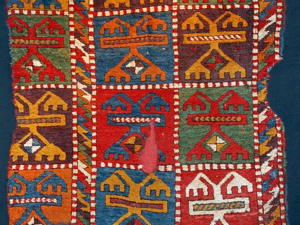 Antique Konya Karacadağ-Işıklar carpet, Early 19th century, Central Anatolia