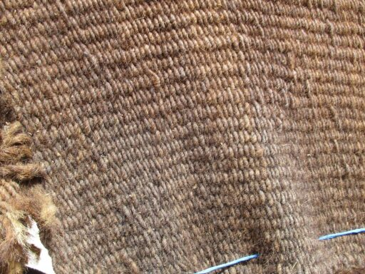 Goat hair tent fabric made with warp faced weaving method