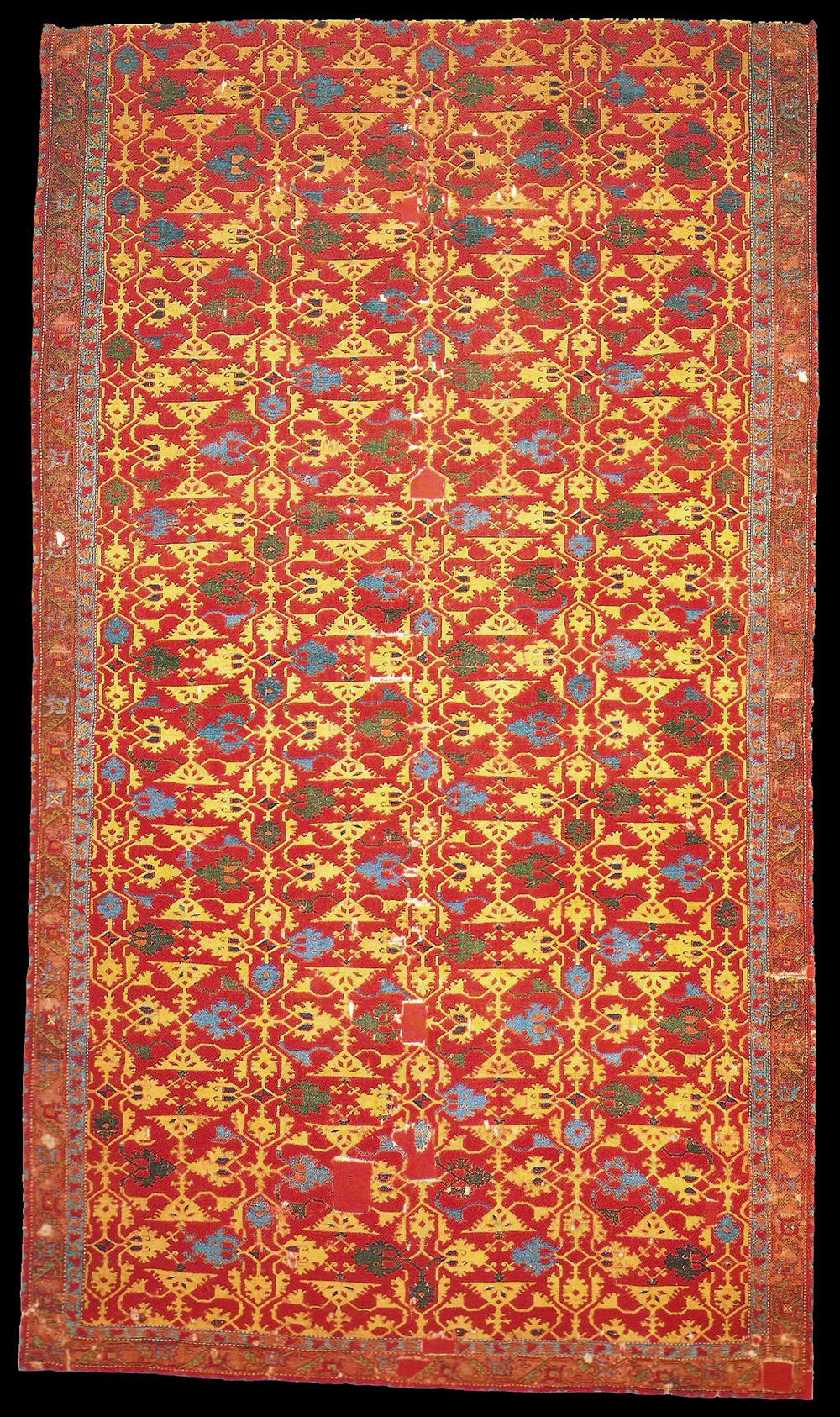 17th century Lotto type Ushak carpet, Western Anatolia