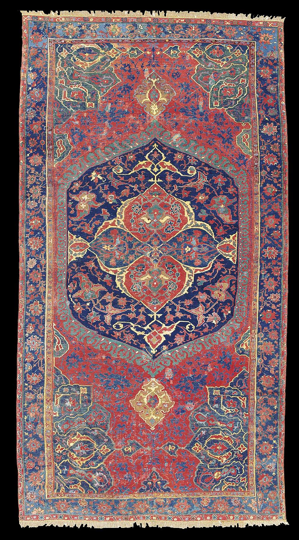 Medallion Ushak carpet of 16th century workshop production