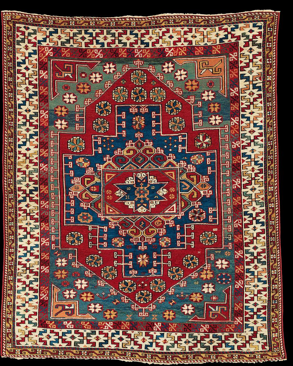 An antique Bergama village carpet, 18th century