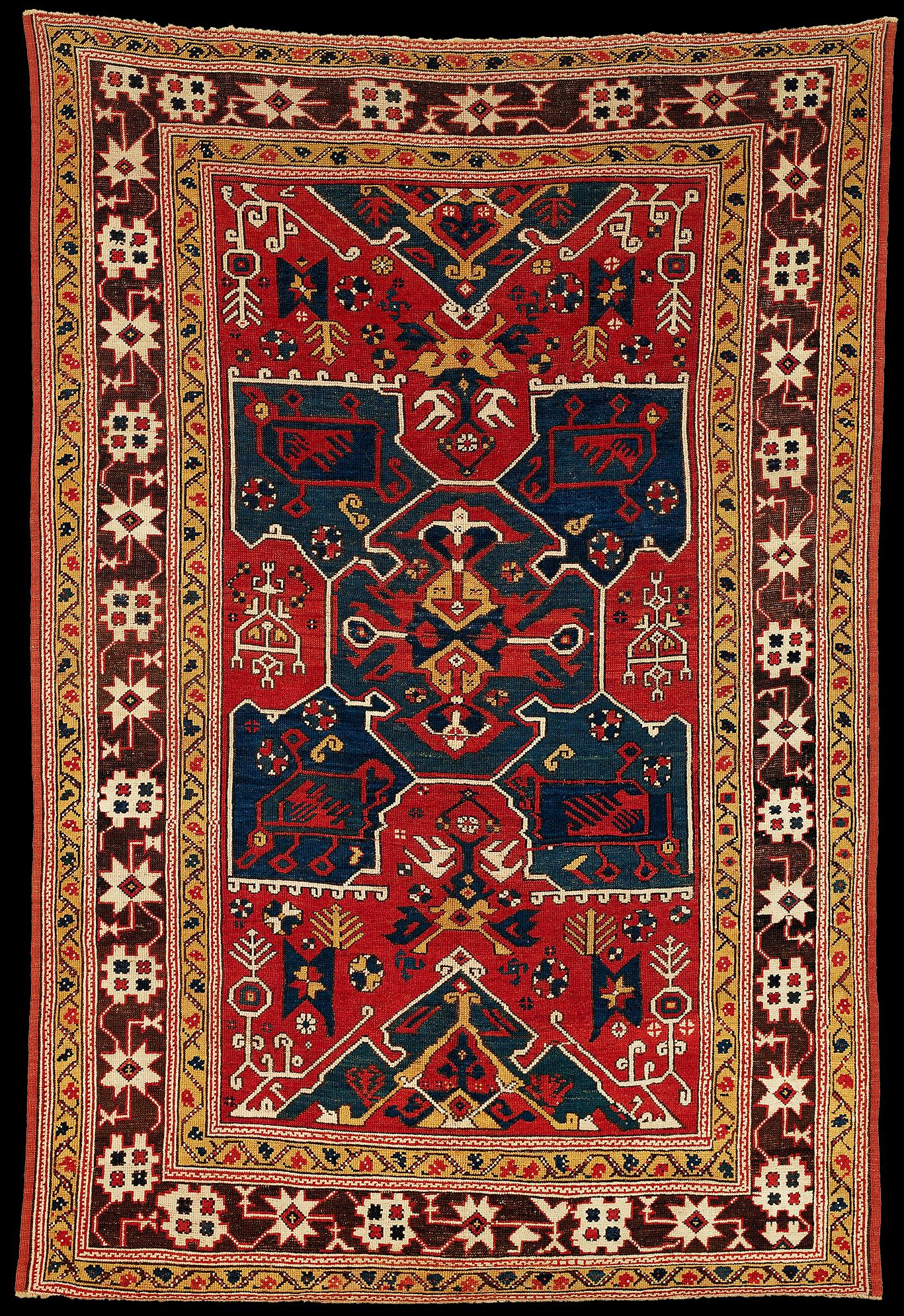 Antique Bergama Carpet, 18th century
