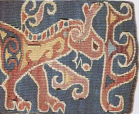 Scythian rug, 7th century, Northern Iran