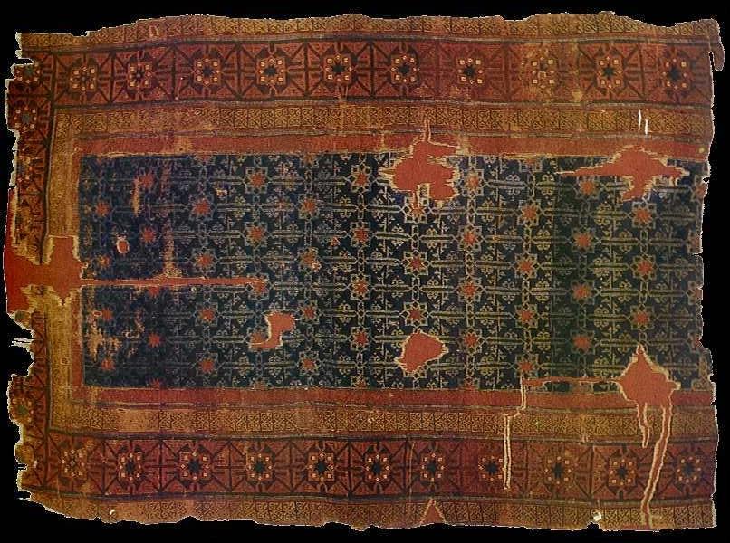 Antique Seljuk carpet, 13th-14th century TIEM collection