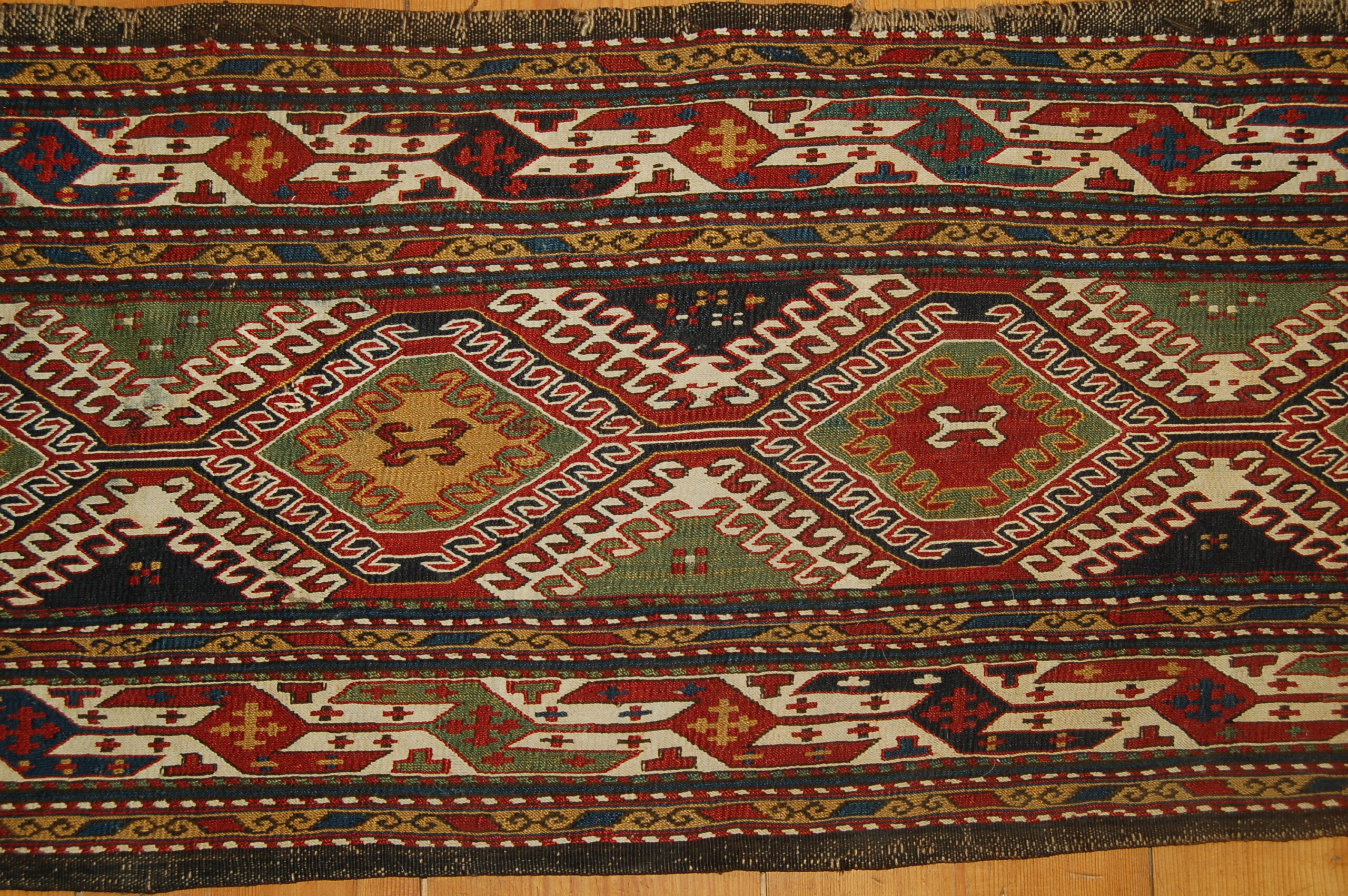 Mafraj (bedding storage sack) panel, sumac technique, Qarabag, mid 19th century
