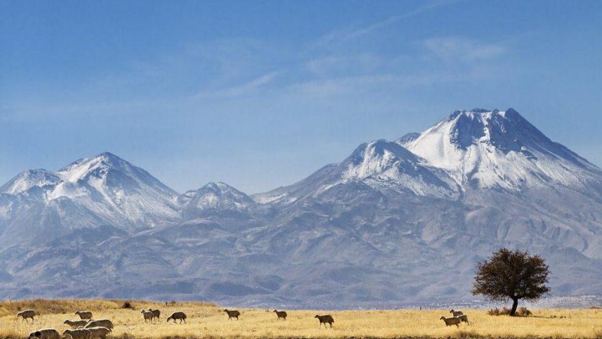 Hasan Dağ volcanic mountain near Konya city, Central Turkey