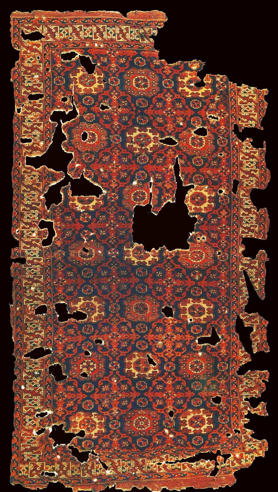 So called Holbein carpet 15-16th centuries, Western Anatolia