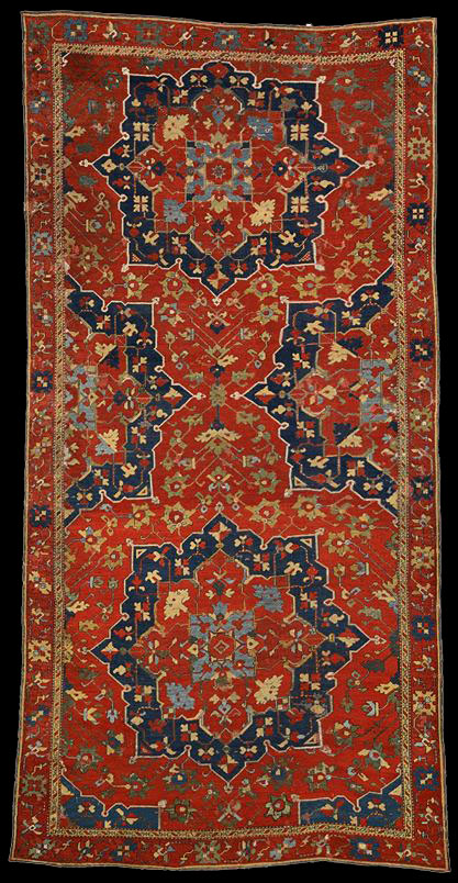 Ushak carpet, 16th century, having the pattern and the weaving from local workshops