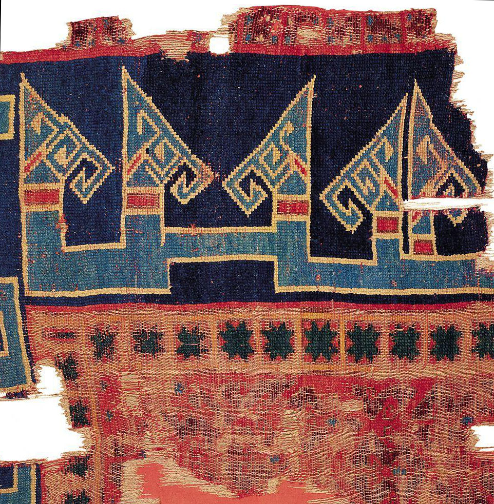 Seljuk carpet detail photo, 14th century, Turkish and Islamic Arts Museum