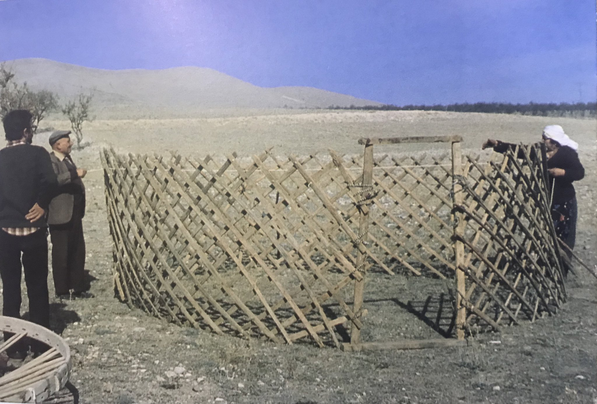 Derim, united to form the wall of the Anatolian Turkmen Tent, Bayat Tribe, Emirdag pasture, Afyon, West-Central Turkey, 1980s