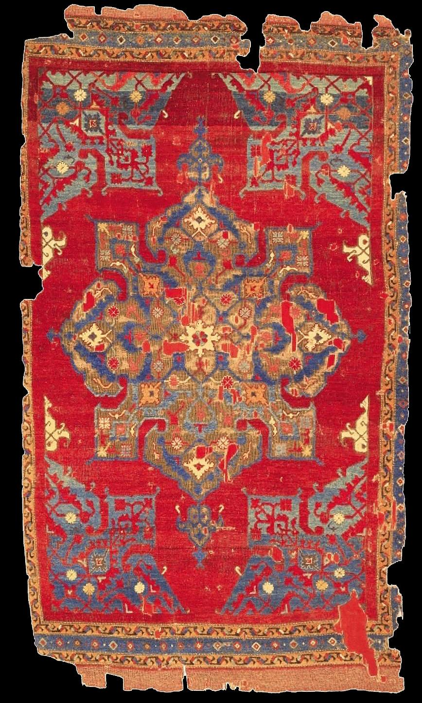 An early star Ushak carpet, 16th century, Western Anatolia