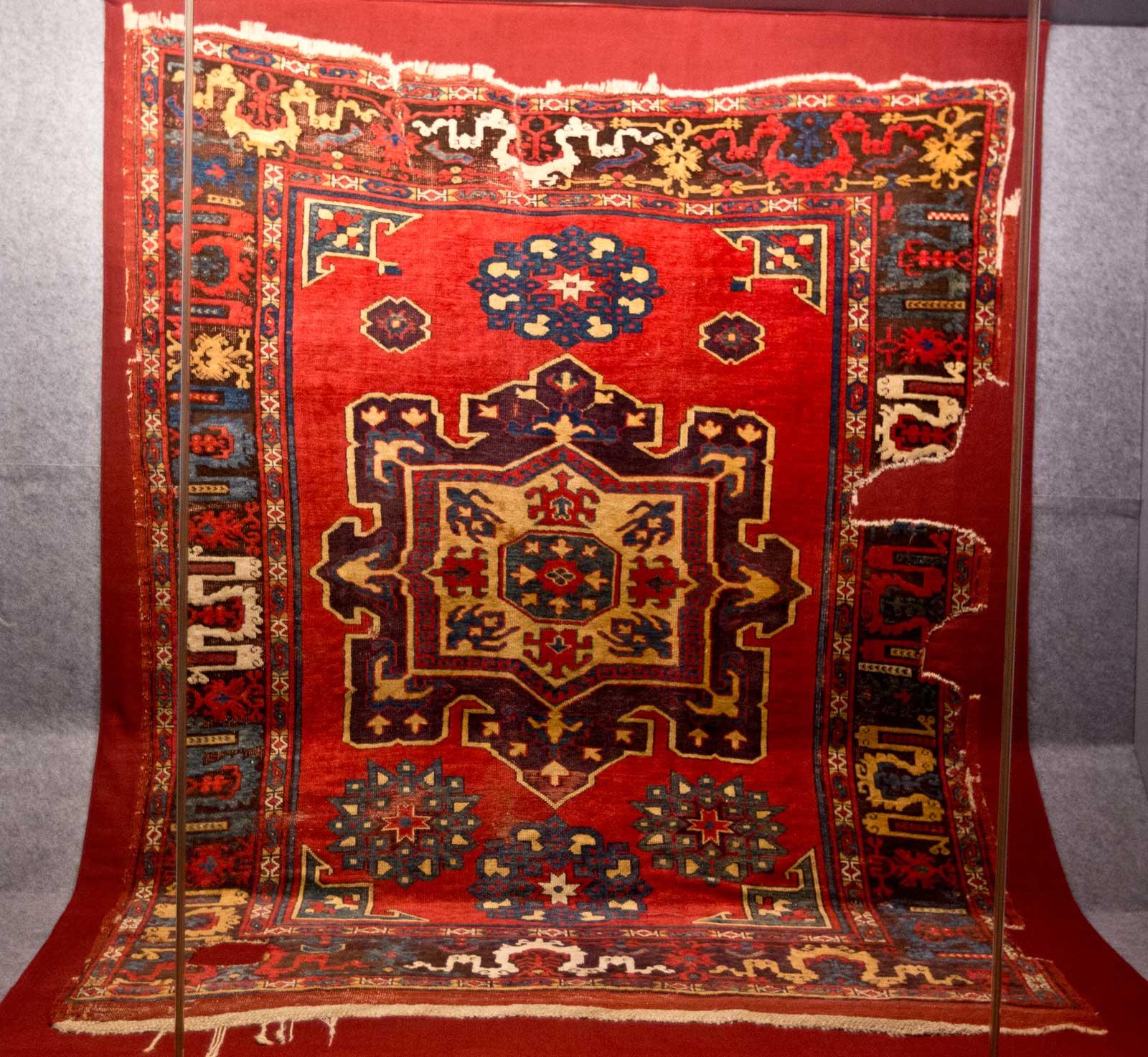 Early Karaman workshop carpet of 15th century, Central Anatolia Vakiflar Museum